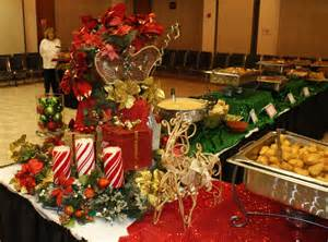 Christmas Banquet Centerpieces - holiday buffet table decorating photograph preceding 10 ch