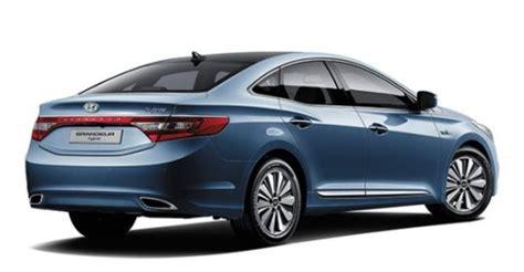 vehicle exchange program hyundai hyundai grandeur hybrid unveiled in s korea