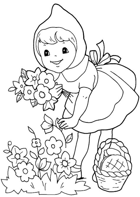 little red riding hood 3 costumes coloring pictures