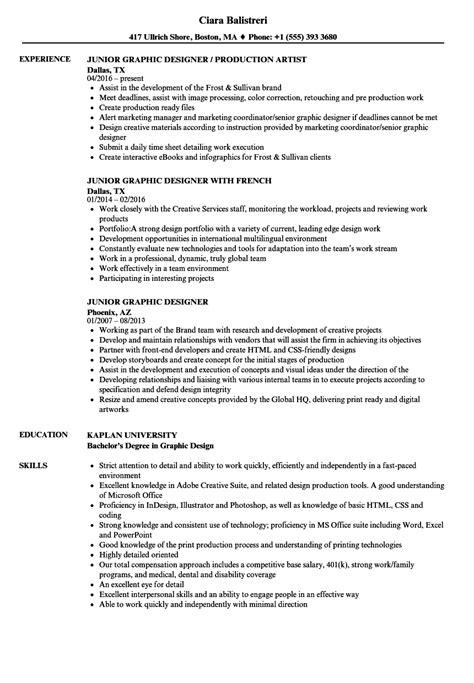junior graphic designer resume sles velvet