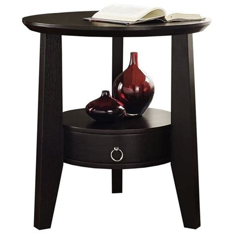monarch accent table cappuccino accent table in cappuccino with drawer i 2491