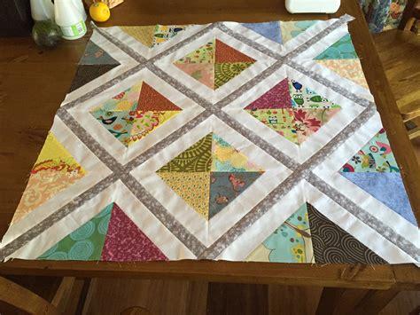 Sashing A Quilt by Tutorial Diagonal Quilt Sashing Simple Crafty