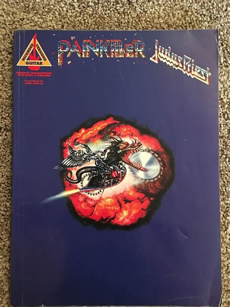 painkillers books judas priest painkiller guitar tab tablature book