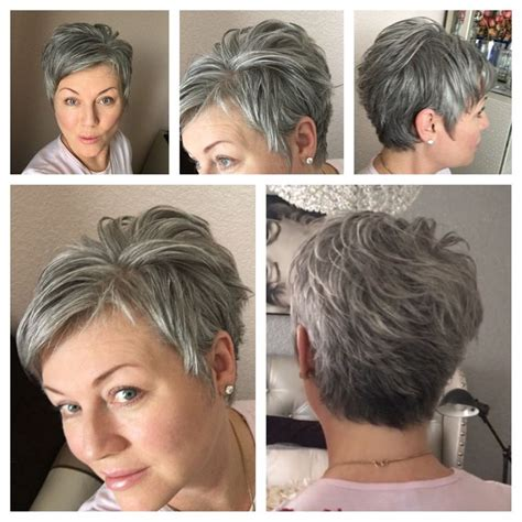pixie haircut exercise 1658 best images about 50 shades of grey hair