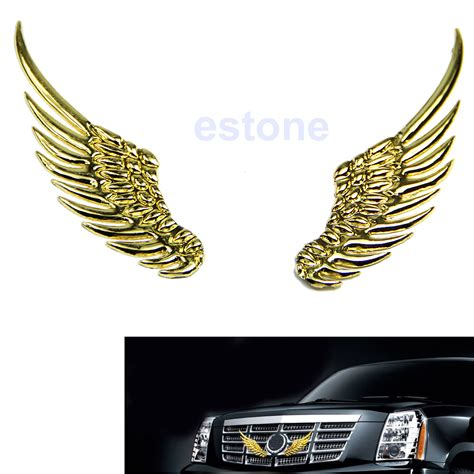 Stiker Wing Shoes 3d alloy metal hawk wings emblem badge decal logo sticker for any car new ebay