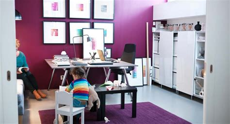 purple office decor purple white home office interior design ideas