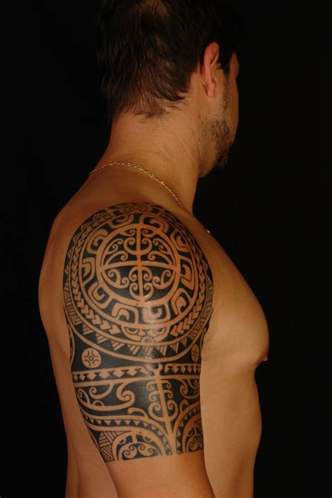 shoulder sleeve tattoo maori polynesian polynesian shoulder on anthony