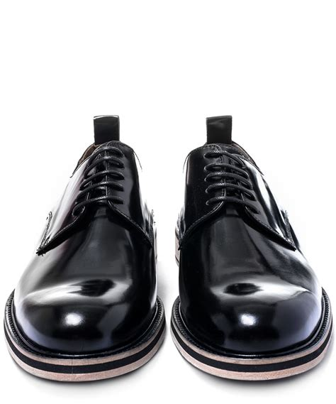 ami sneaker ami black glossed leather derby shoes in black for lyst