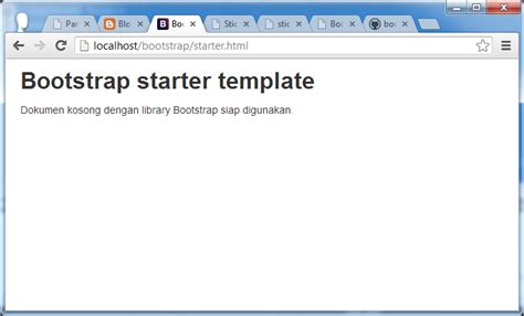 bootstrap starter template mendesain layout web dengan bootstrap