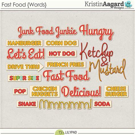 digital scrapbook kit fast food kristin aagard