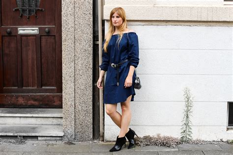 Welche Stiefeletten Zum Kleid 2657 by Dunkelblaues Shoulder Kleid Stiefeletten Rockig