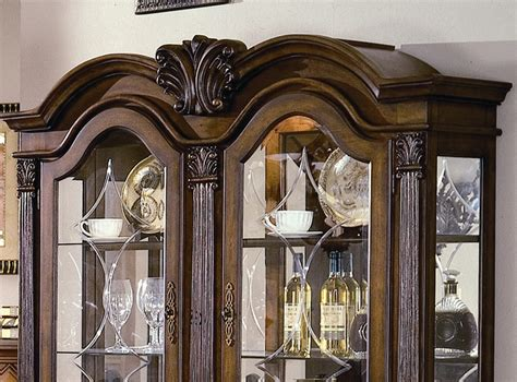 5 Pc Neo Renaissance neo renaissance buffet and hutch in burnished cherry finish by crown 2400h