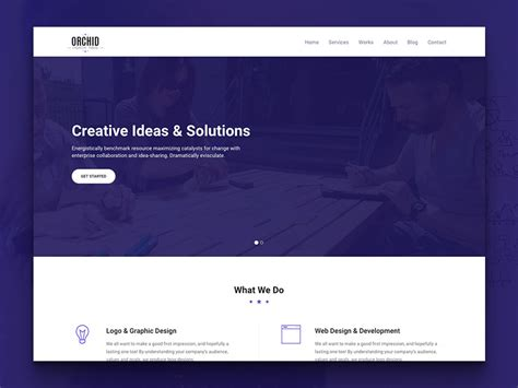 Orchid Free Html5 Business Simple Portfolio Website Template Uicookes Free Simple Web Page Templates