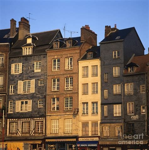 Art Decor For Home by Row Of Houses Honfleur Harbour Calvados Normandy