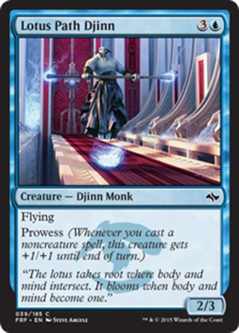 The Monk Who Cast A Spell lotus path djinn fate reforged gatherer magic the