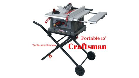portable table saw ratings craftsman portable table saw review the boetker channel