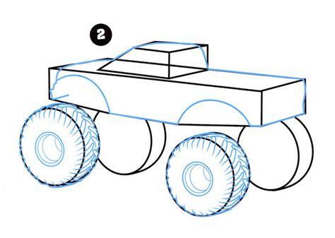 monster trucks drawings how to draw monster trucks quarto creates