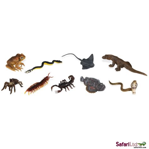 Figure Anjing Safari Ltd Toob safari ltd venomous creatures toob fauna figures toys