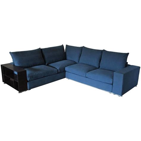 blue l shaped couch flexform groundpiece sectional l shape sofa in blue