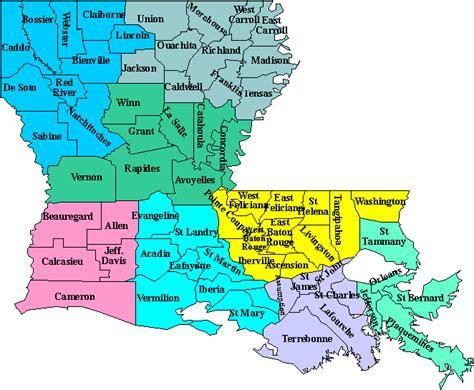 louisiana map by parishes cajun and cajuns genealogy site for cajun acadian and