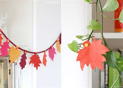 Herbst Girlande Fenster by Herbst Girlande Aus Filz Diy