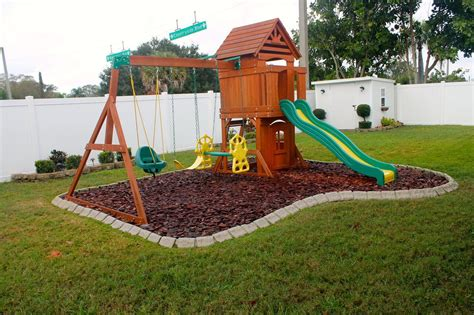 backyard play playground edging backyard ideas