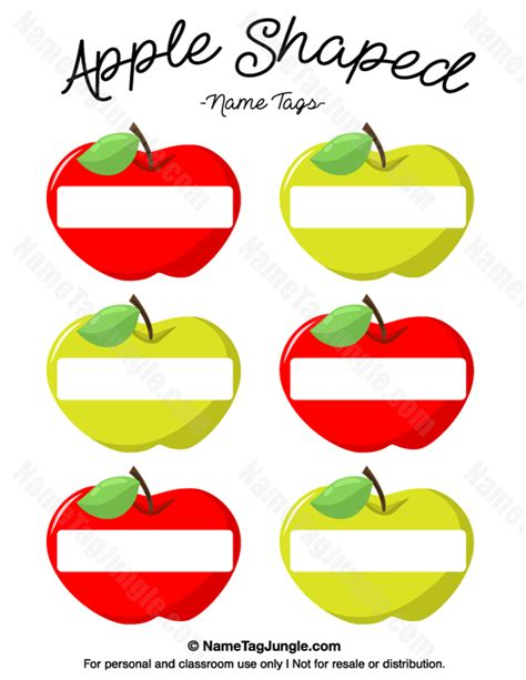 printable apple shapes free printable apple shaped name tags the template can