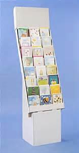 corrugated greeting card holder 8 tier 24 pocket