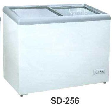 jual mesin pemajang es kaca datar sliding flat glass freezer kapasitas 200 liter sd