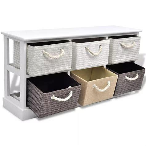 6 storage bench vidaxl storage bench 6 drawers wood vidaxl co uk