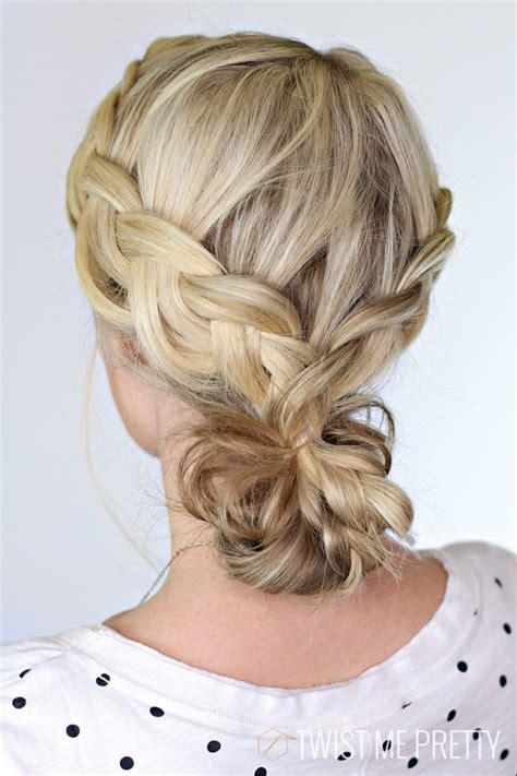 twist me braided bun day 22 twist me pretty