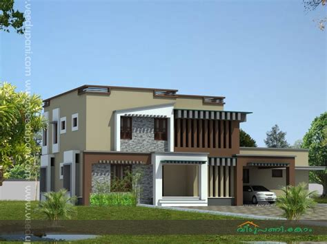 contemporary house style home design square feet modern style kerala house design