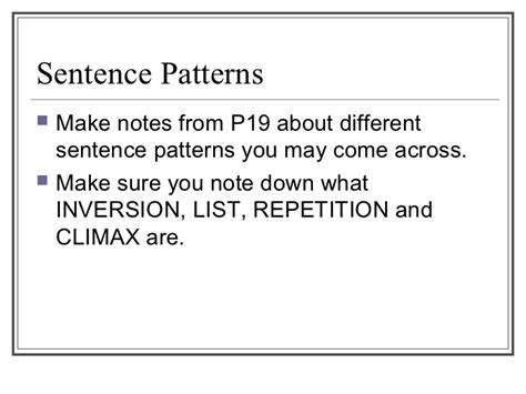 sentence pattern notes close reading an sentence strct