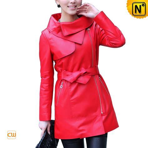 jacket design maker designer fashion red zipper front leather jacket for women