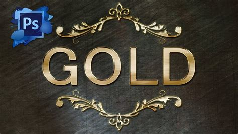 gold lettering tutorial photoshop gold text effect photoshop cs6 tutorial youtube