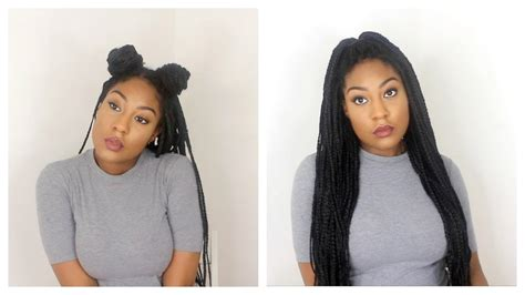 how to style your box braids youtube how i style my box braids 12 quick hairstyles youtube