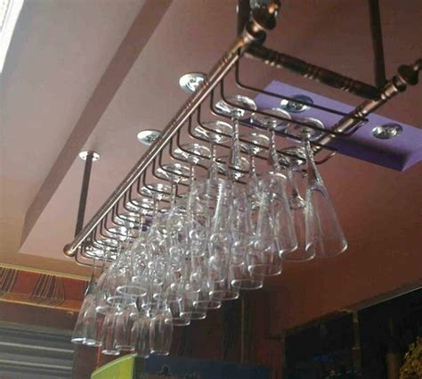 Hanging Bar Glass Rack by Aliexpress Buy 80 30cm Fashion Bar Wine Goblet Glass Hanger Holder Hanging Rack Shelf
