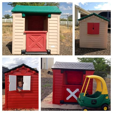 Tikes House by Tikes House Makeover With A Deere Cozy Coupe