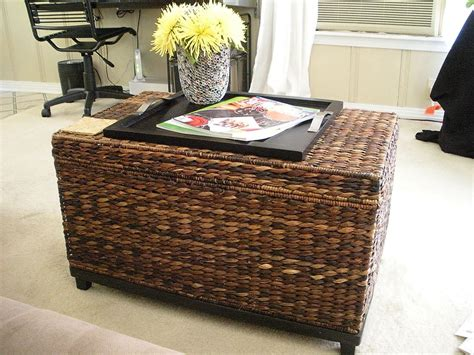 Wicker Coffee Table And Chairs For Your Home The Decoras Rattan Coffee Table Trunk