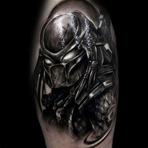 predator tattoo 50 predator designs for sci fi ink ideas