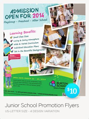 junior school trifold bifold brochures by kinzi21