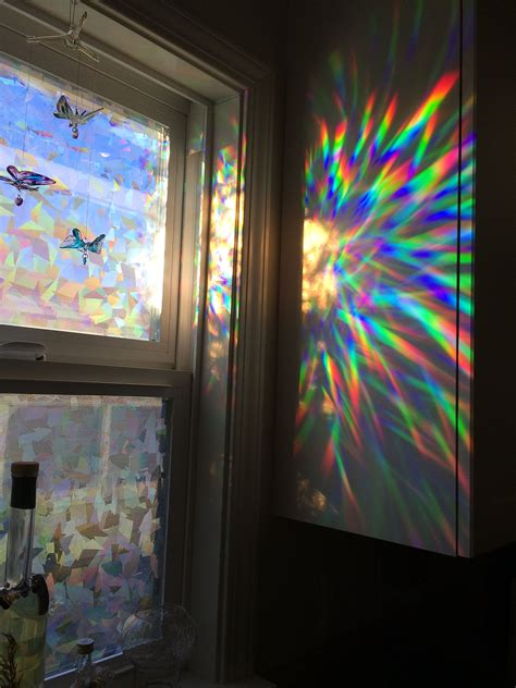 window film house decorative window film holographic prismatic etched glass effect fill your house