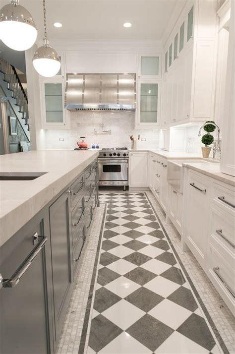 checkered kitchen floor transitional kitchen carter