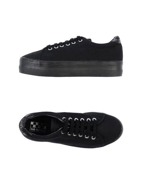 noname sneakers no name black low top sneakers in black lyst