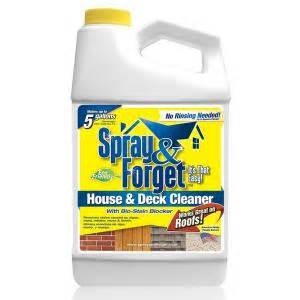 deck cleaner home depot spray forget 64 oz house and deck cleaner outdoor mold