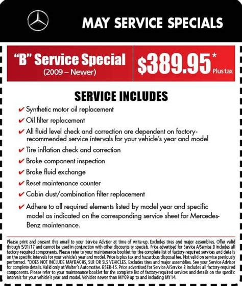 Mercedes Coupon by Mercedes Service Specials Auto Repair In Riverside