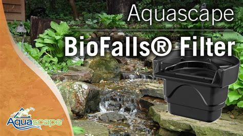 aquascape biofalls aquascape biofalls 174 filter youtube