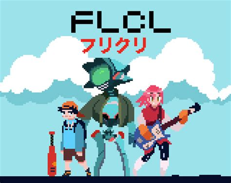 Anime 8 Bit by Ericdrawseveryday Flcl Pixelart Anime