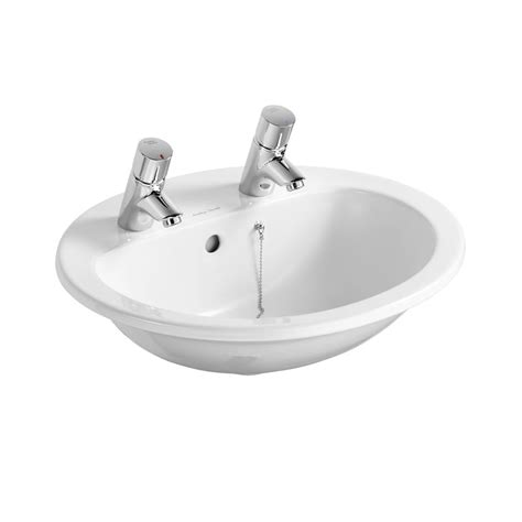 Armitage Shanks Countertop Basin armitage shanks orbit 21 55cm countertop basin white with overflow and chainhole two tapholes