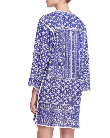 Bloom Split Dress etoile marant bloom printed split hem tunic